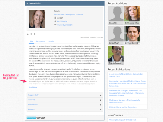 Campus Directory Pro WordPress plugin offers profile pages for faculty, staff and students