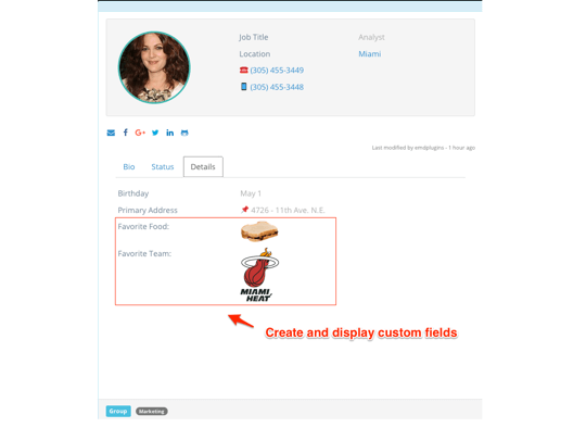 Employee Spotlight WordPress plugin - Custom Fields