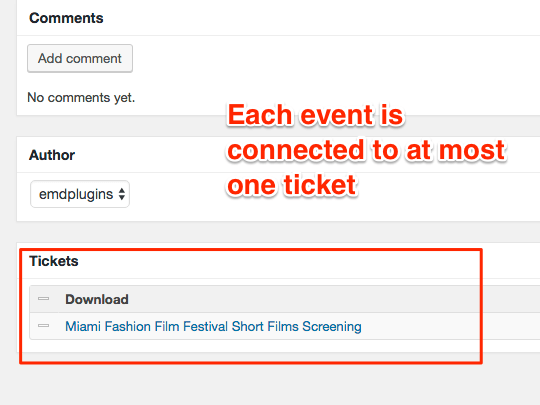 WP Easy Events Easy Digital Download extension support connecting events to tickets(download)